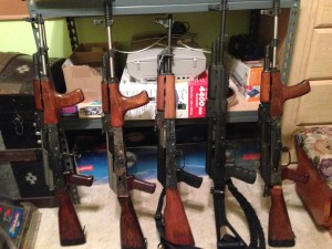 Four Romanian made rifles and one Yugoslavian.  Can you pick out the Yugoslavian one?
