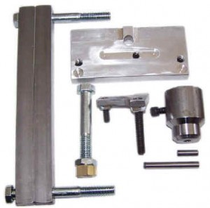 BARREL PRESS KIT FOR USE WITH A SHOP PRESS.